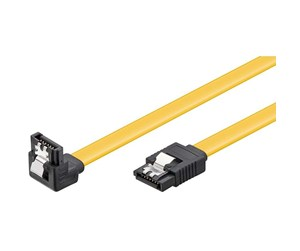 4040849950186 - Pro SATA Cable - 1 x 90° - Yellow - 0.30m